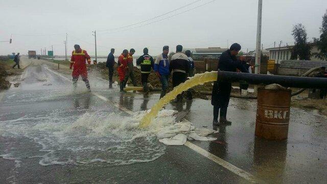برقراری راه ارتباطی 16 روستای سیل زده شهرستان مانه و سملقان